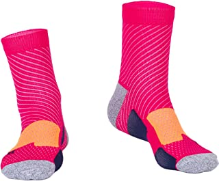 Foclassy Compression Crew Socks All Sports Cushioned (5-Pack)Breathable(For Prime) hengshengyongxiang