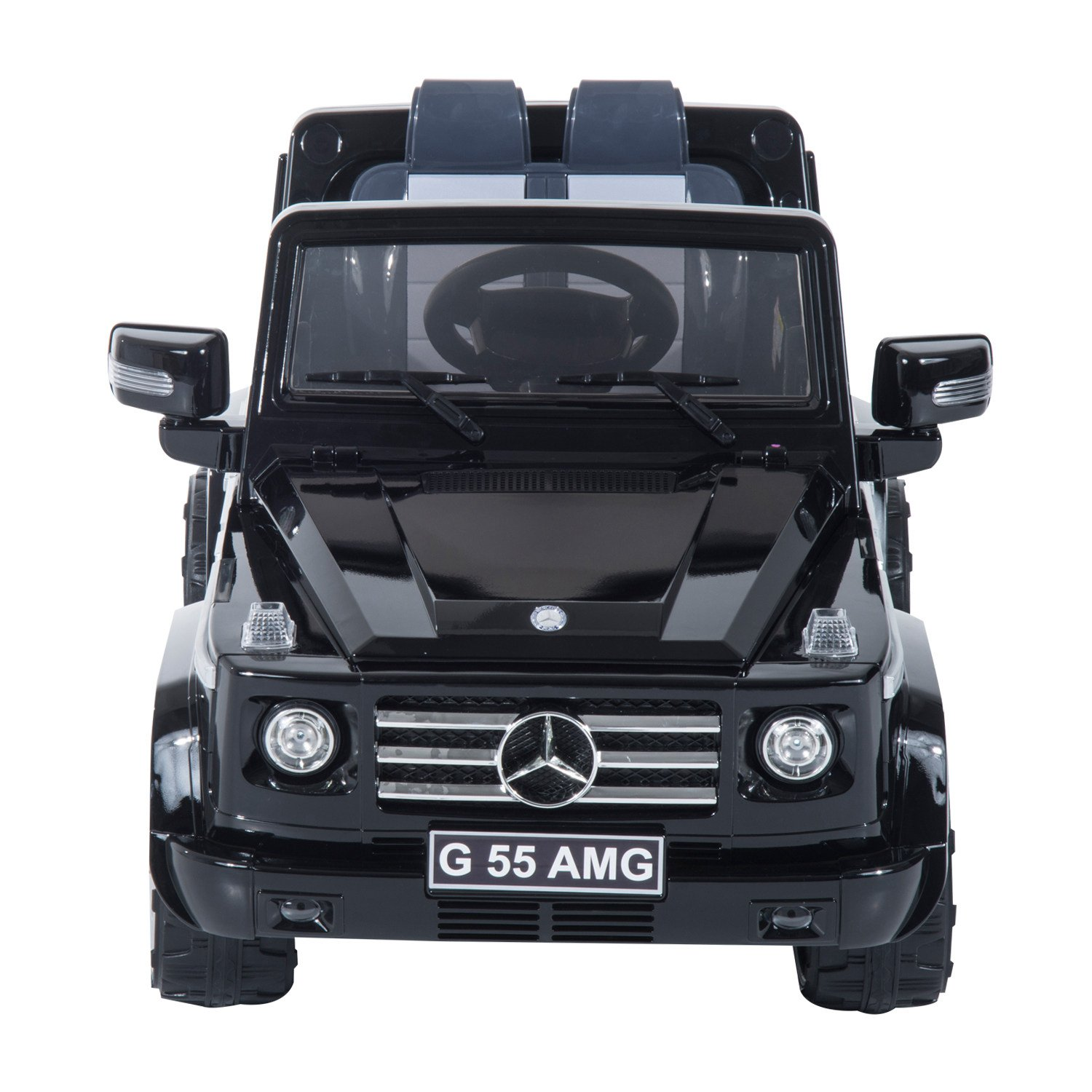 amazoncom mercedes benz g55 12v kids electric battery toy ride on suv car w remote control black toys games