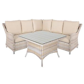 Barbados 4 Piece Rattan Wicker Garden Conservatory Furniture Table U0026 Sofa  Set
