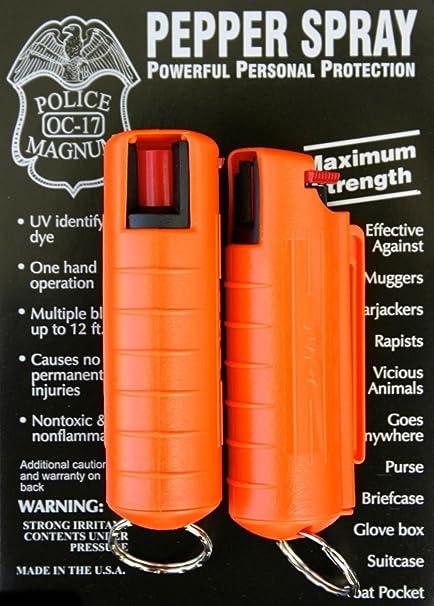 Amazon.com: 2 Pack Policía Magnum oc-17 Spray de pimienta ...