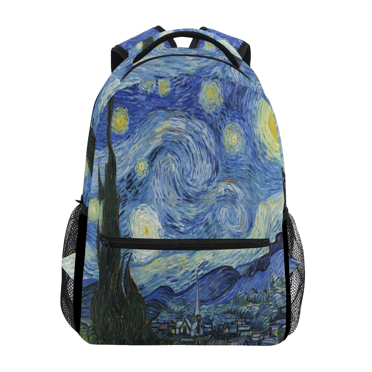 3ccd460d3013 Amazon.com  WXLIFE Van Gogh Starry Night Art Backpack Travel Shoulder Bag  for Boys Girls Women Men  Computers   Accessories