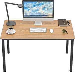 DlandHome Computer Desk Home Office Table Writing Desk Study Table Gaming Desk Worstation (47 in, Oak)
