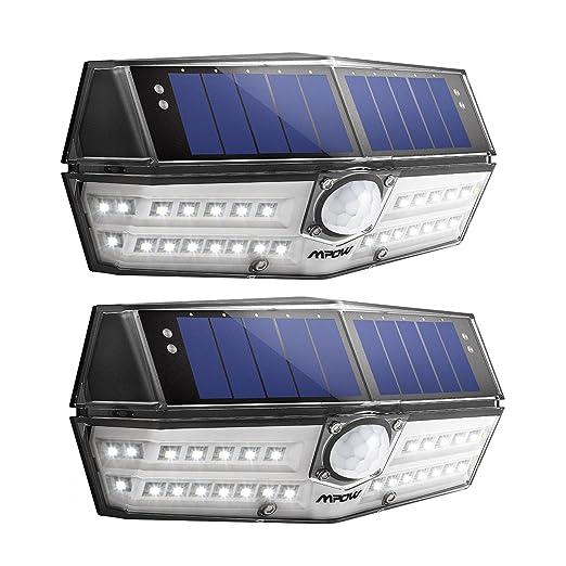 Mpow Premium 30 LED Luz Solar IP66 Impermeable, Iluminación de 270º, Sensor de Movimiento