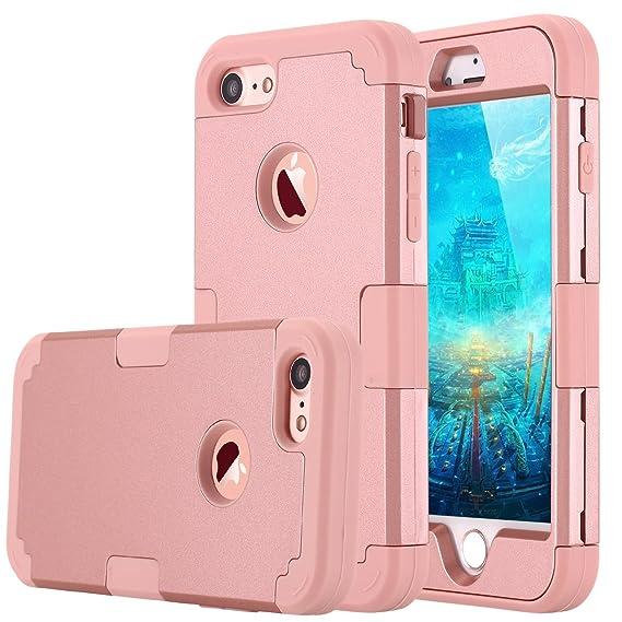 the best attitude 68de3 386fe Amazon.com: LONTECT Compatible iPhone 7 Case Hybrid Heavy Duty ...