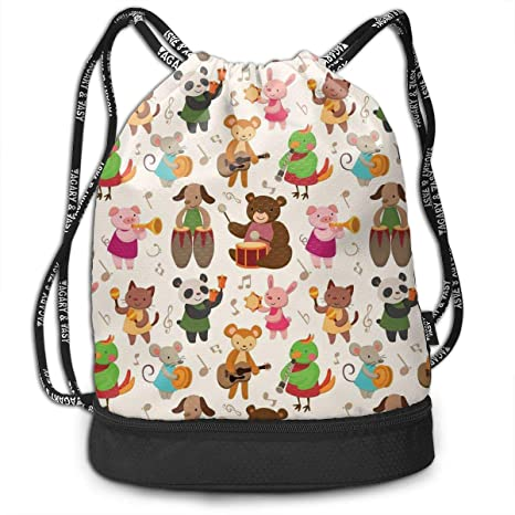 Lightweight Waterproof Large Storage Drawstring Bag For Men /& Women Dogs And Cups Cinch Backpack Sackpack Tote Sack