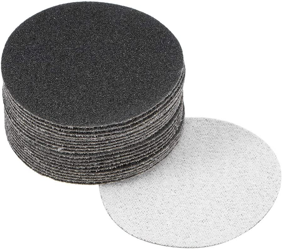 uxcell 2 Inch Wet Dry Sanding Discs 150 Grit Hook and Loop Sanding Disc Silicon Carbide Sandpaper 20pcs