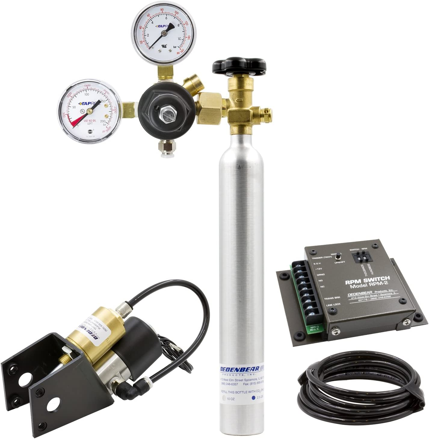 Pro-Stick//Quarterstick 2 Speed Co2 Bottle /& RPM Switch AutoMeter Auto Meter AS2K Dedenbear Shifter Kit