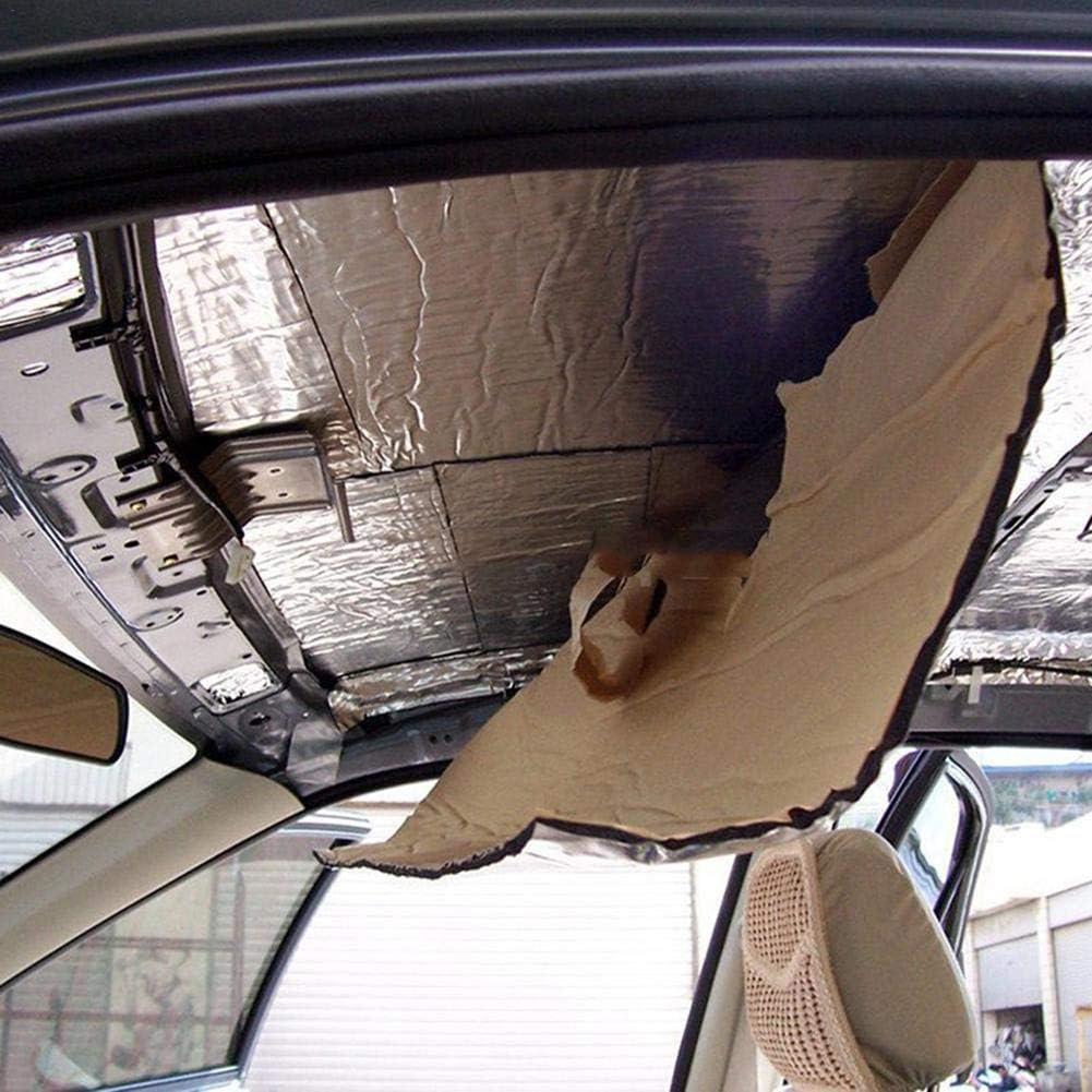 50 /× 200 cm awhao Cuscinetto per Isolamento Termico Auto Isolamento Termico Autoadesivo e Stuoia fonoassorbente in Cotone per Porte Tetti Pavimenti Tronchi Cuscinetto per Auto ignifugo