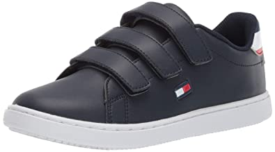 f1bc43afa906 Image Unavailable. Image not available for. Color  Tommy Hilfiger Baby Kids   Iconic Court Alt Sneaker ...