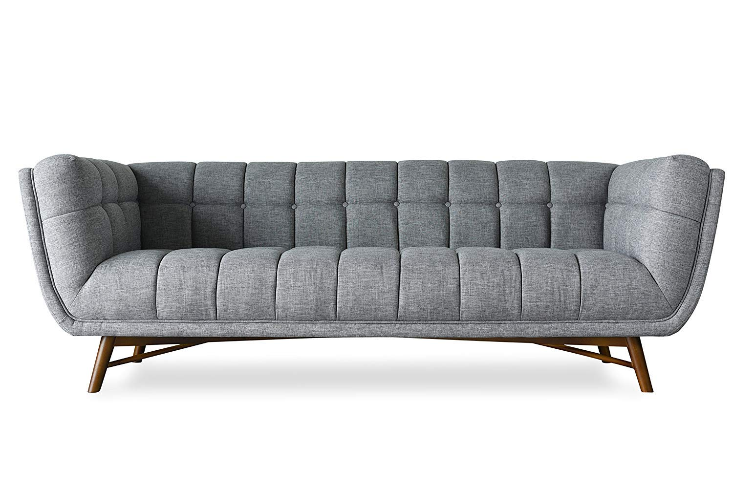 Edloe Finch Lofton Mid-Century Modern Sofa, Grey by Edloe Finch