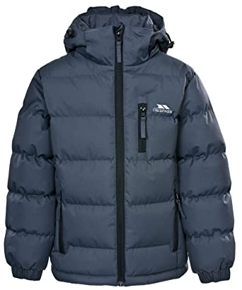 680df6688 Trespass Tuff Boys Puffa Jacket Padded School Coat Childs Childrens 2-12  Years (2-3 Years, Flint Grey): Amazon.co.uk: Clothing