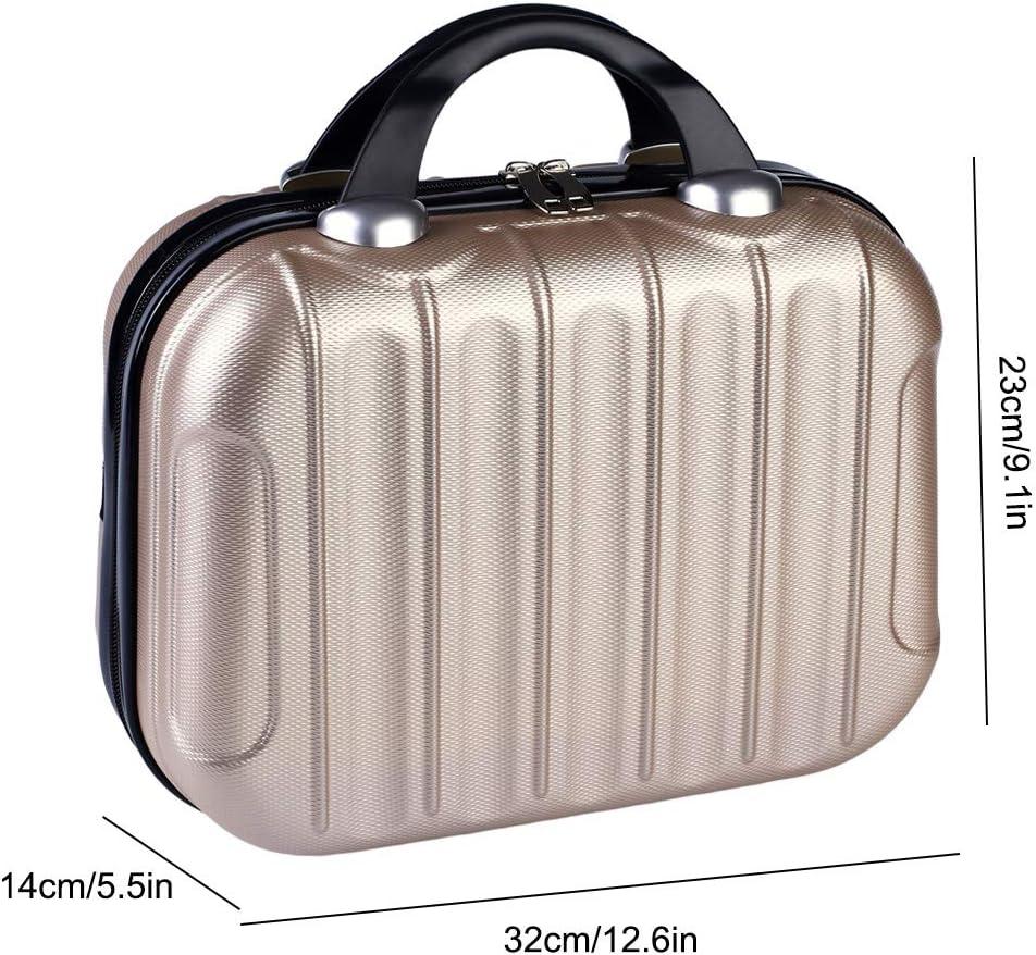 Macabolo 14 pulgadas port/átil viaje maquillaje organizador impermeable bolsa de cosm/éticos mini malet/ín para cosm/éticos maquillaje herramientas tocador