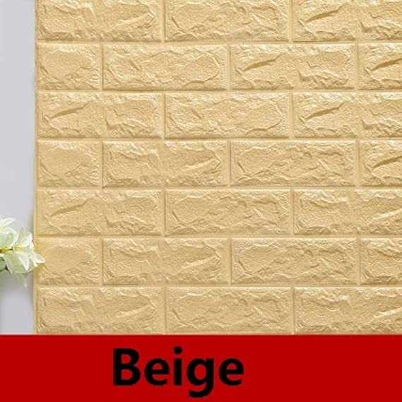 Amazon.com: Batop DIY Self Adhensive 3D Brick Wall Stickers - Living Room Decor - Foam Waterproof Wall Covering Wallpaper for TV - Background Kids Room ...