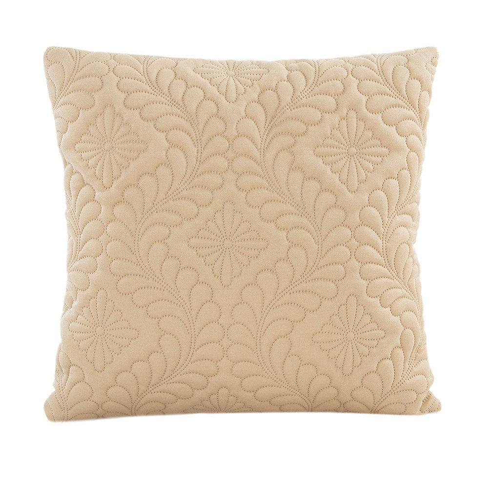 Vovotrade Housse de Coussin pour sofa couleurs pures 43 x 43 cm, Polyester, beige, 16.9X16.9'