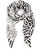 Out of Print Literary and Book-Themed Lightweight Scarf for Book Lovers, Readers, and Bibliophiles