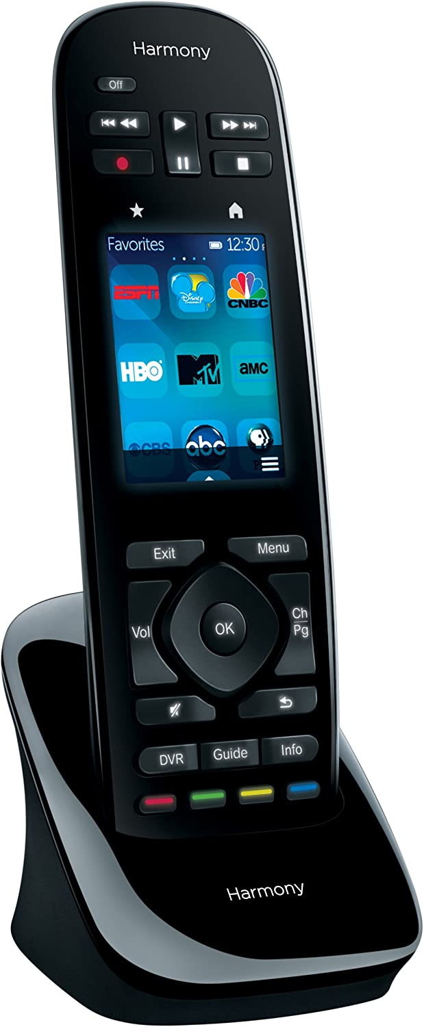 "Logitech Harmony Ultimate One 2.4/"" Touch Screen Universal Remote for 15 Devices"