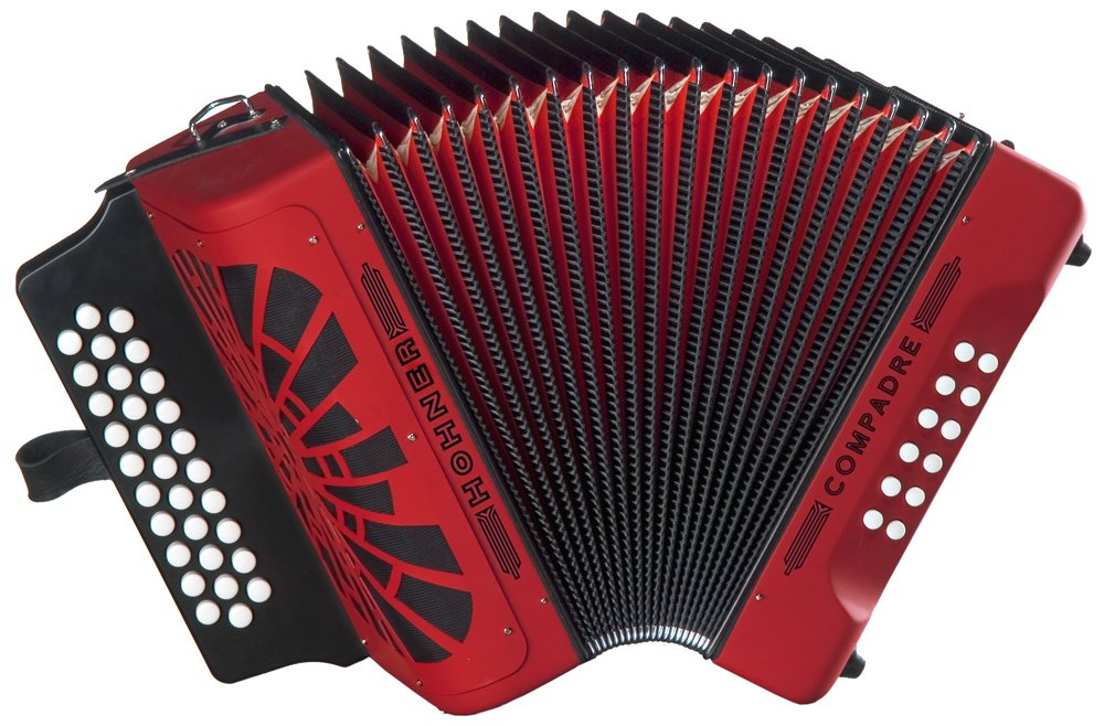 Hohner Compadre GCF Accordion, Red by Hohner Accordions