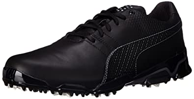 005e7b04a92610 PUMA Men s Titantour Ignite Golf Shoe Black Steel Gray 9 ...
