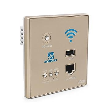 aobost Interruptor de pared router wifi 300 mbps 5 V 1.5 A multifunción Mini Wireless WiFi
