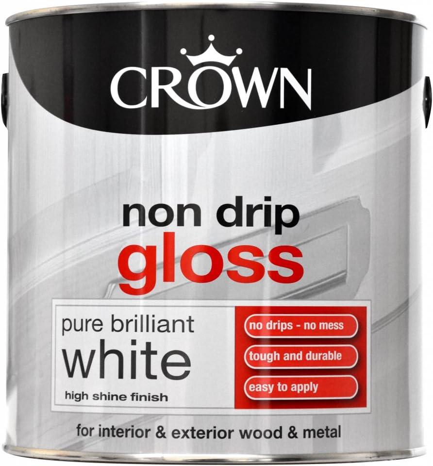 Crown Solo One Coat Gloss Paint Jet Black 2.5L: Amazon.co.uk