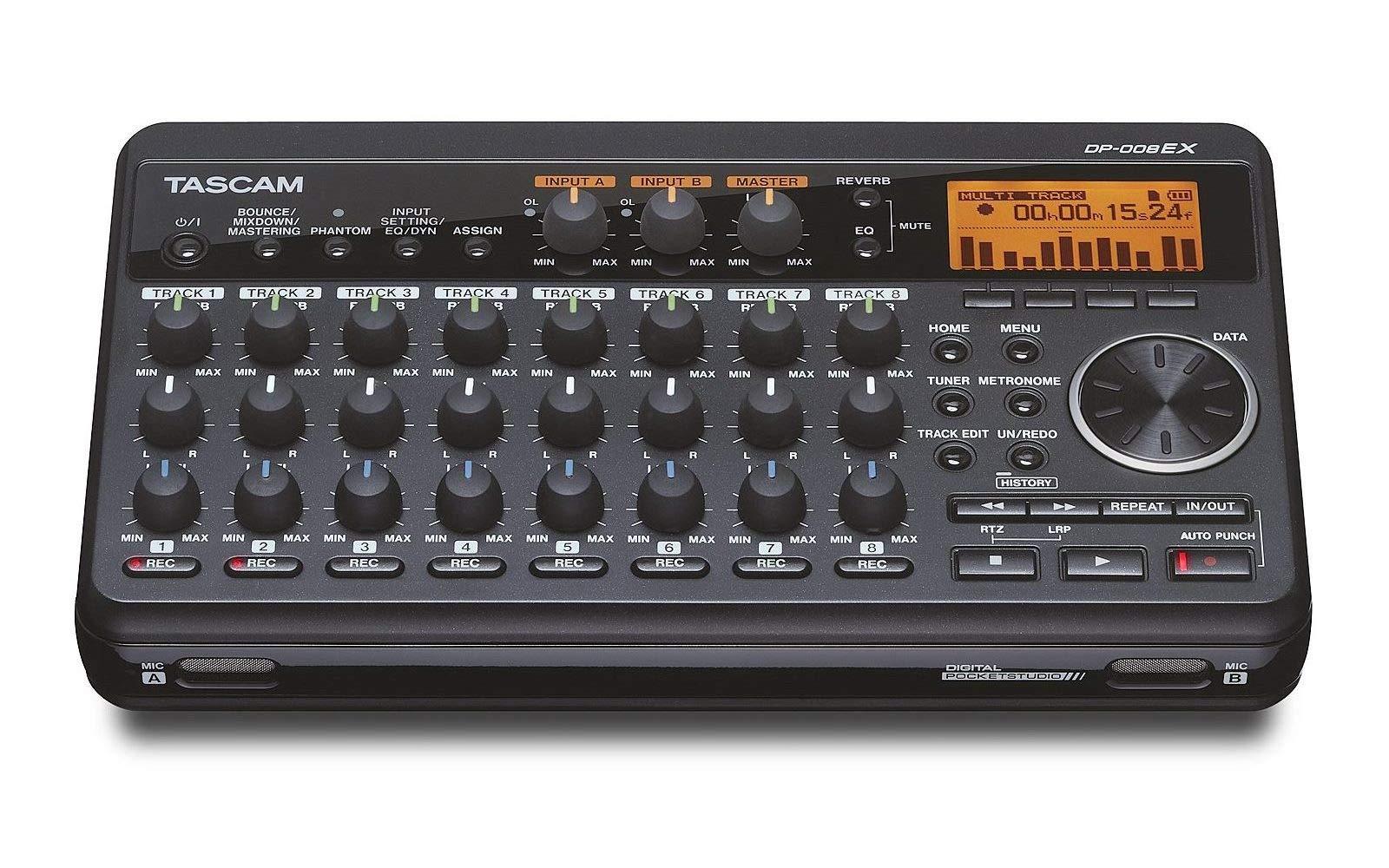 Tascam DP-008EX 8-Track Digital Pocketstudio Multi-Track Audio Recorder