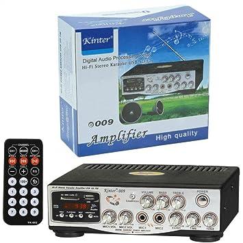 Amplificador Casa Y Auto 12 - 220 Voltios KINTER 009 Con Entrda RCA Auxiliar Y Jack
