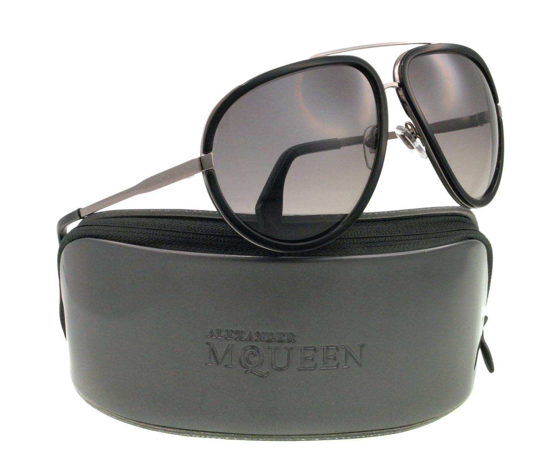 A. McQueen 4198/S Sunglasses-085K Ruthenium (EU Gray Gradient Lens)-63mm