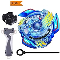 Urcara Bey Burst Gyro Battling Top B-34 Beyblade Burst Attack Starter Victory Valkyrie. B.V W/Launcher Spinning Top with Launcher + Grip Set Top Battle Set Toys for Kids