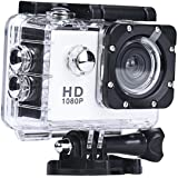 ZIYUO Full HD Sports Action Camera 2.0 inch Ultra HD TFT LCD screen Waterproof DV Recorder shooting 30 meters under water Ultra Wide Angle Lens and Portable Package WH
