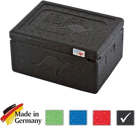 KängaBox Mini EX3075 - Caja térmica (15 L), mantiene el frío y el calor, (exterior 210 x 160 x 115 mm, interior 180 x 130 x 75 mm) negro negro: Amazon.es: Deportes y aire libre
