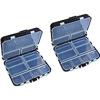 HPiano 2pcs Compartimentos Caja de Almacenamiento Caja Pesca con Mosca Señuelo Cuchara Gancho Cebo Caja de Aparejos,26…