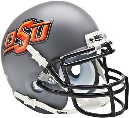 NCAA Okalahoma State Cowboys Mini Authentic XP Football Helmet White//Black//Gray Alt Mini 13