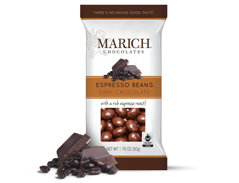 Amazon.com : Marich Premium Dark Chocolate Espresso Beans, 1.76 ...