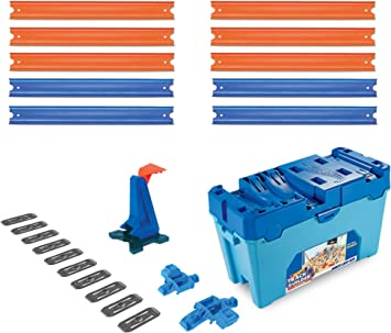 Hot Wheels - Track Builder, Caja Multiloopings, accesorios para pistas