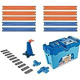 Hot Wheels FLK90 Track Builder Stunt Builder Super Multi Looping Box, mit ca. 3 m Tracks inkl. Zubehör und 1 Spielzeugauto, Geschenkset ab 6 Jahren