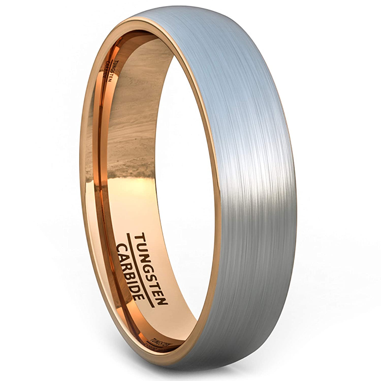 Mens Wedding Bands Tungsten.Duke Collections Mens Wedding Band Tungsten Ring 6mm Brushed