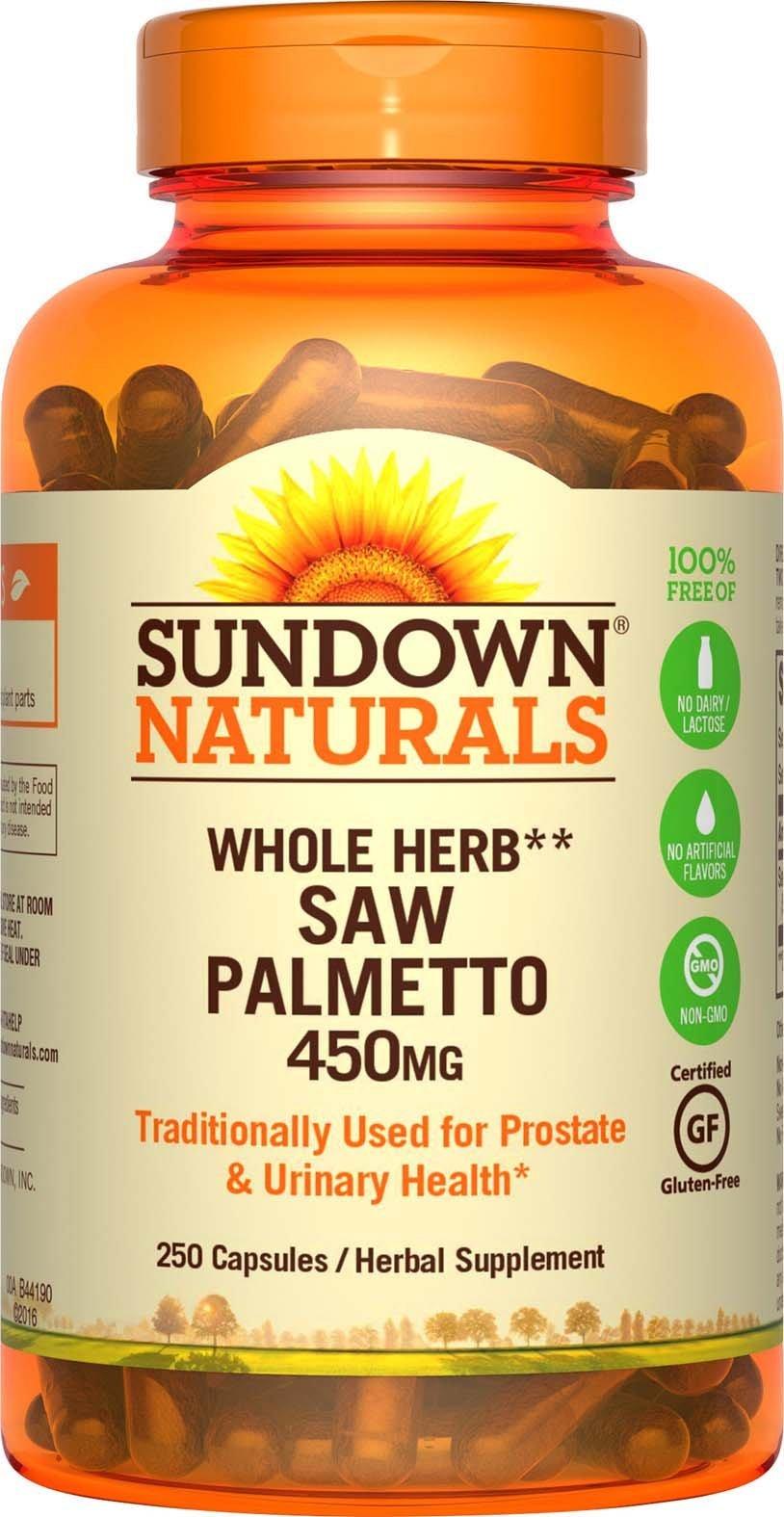 Sundown Naturals Saw Palmetto 450 mg, 250 Capsules by Sundown Naturals