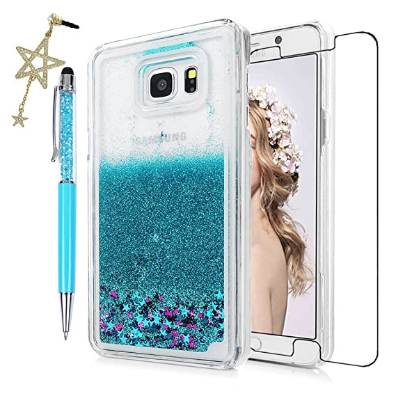 online store 6d27f 004d8 Note 5 Case, Samsung Galaxy Note 5 Case - Quickstand Flowing Liquid  Floating Bling Glitter Sparkle Stars Hard PC Cover Cute Ultra Slim-Fit  Protective ...