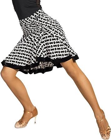 SCGGINTTANZ G2006 Profesional Falda de Danza Latino Latin Moderno Baile para Mujeres