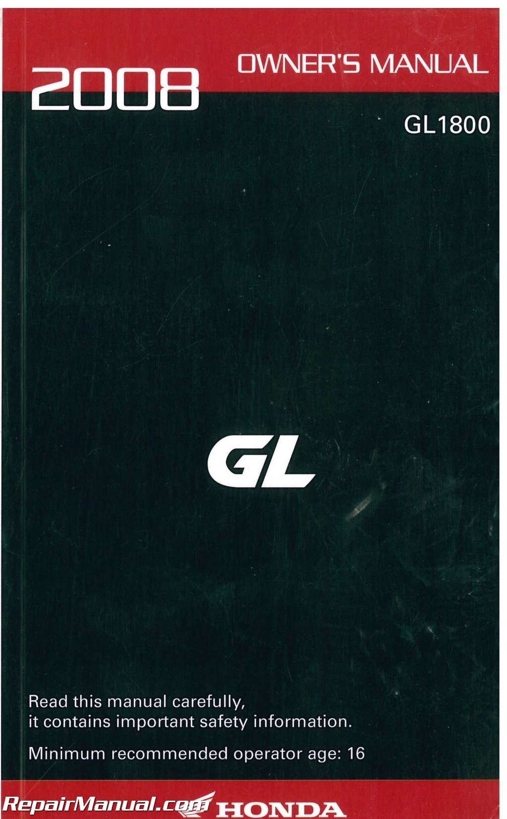 31mca670 2008 honda gl1800 gold wing motorcycle owners manual rh amazon com 2008 honda goldwing gl1800 owners manual 2008 honda goldwing gl1800 owners manual