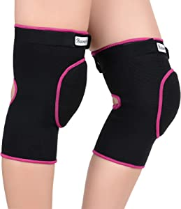 Bezioner Soft Knee Pads Volleyball,Thick Sponge Anti-Slip,Knee Pads for Dancers Yoga Football Women Girls