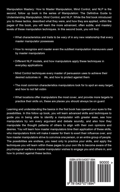 Mind control techniques - Manipulation How To Master Manipulation Mind Control And Nlp Manipulation Series Volume 2 Ryan James 9781543071894 Amazon Com Books