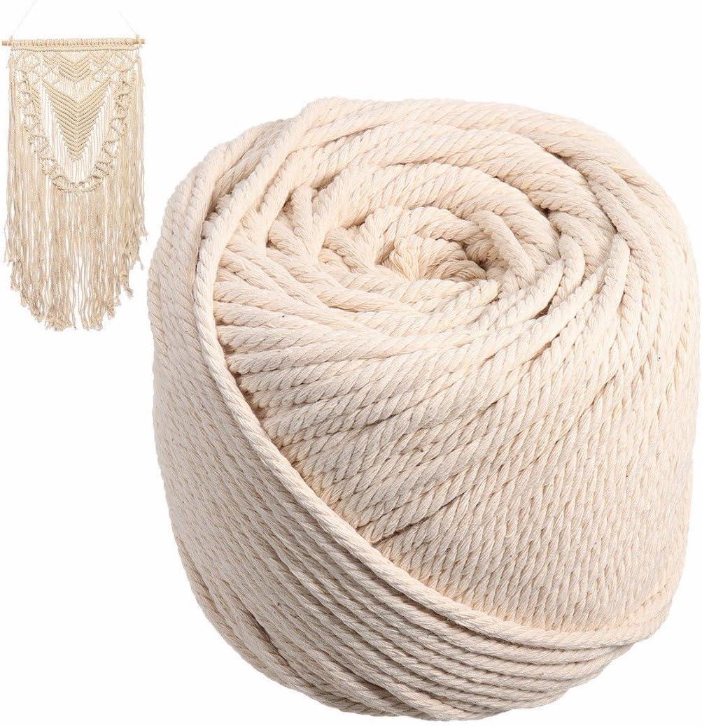 Cuerda trenzada de algodón beige de 5 mm para manualidades ...