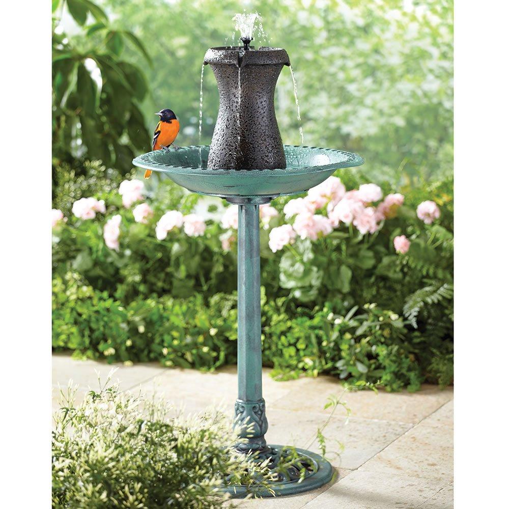 Hammacher Schlemmer The Cordless Birdbath Fountain