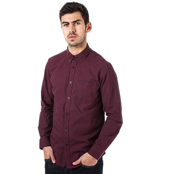 Ben Sherman - Camisa Casual - para Hombre Rojo M: Amazon.es: Ropa ...