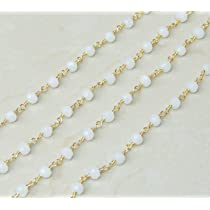 6-7mm Silver Plated Wire Wrapped link Stone Rosary Jewelry Making Chain Wholesale Prices BTC-S04 Emerald Rondelle Faceted Rosary Chain