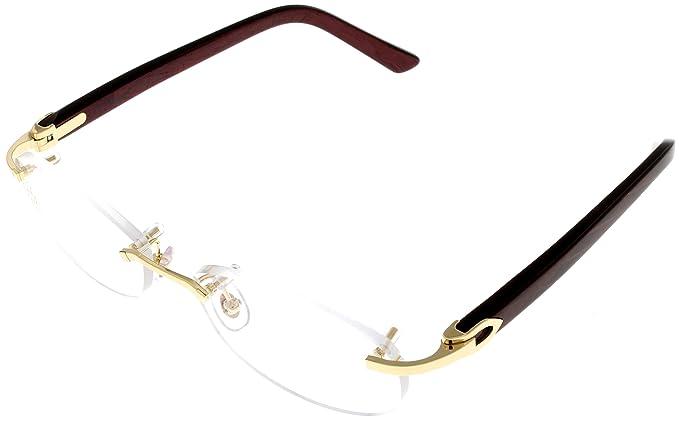 Cartier C Decor Prescripción gafas marco para mujer Burgandy ...