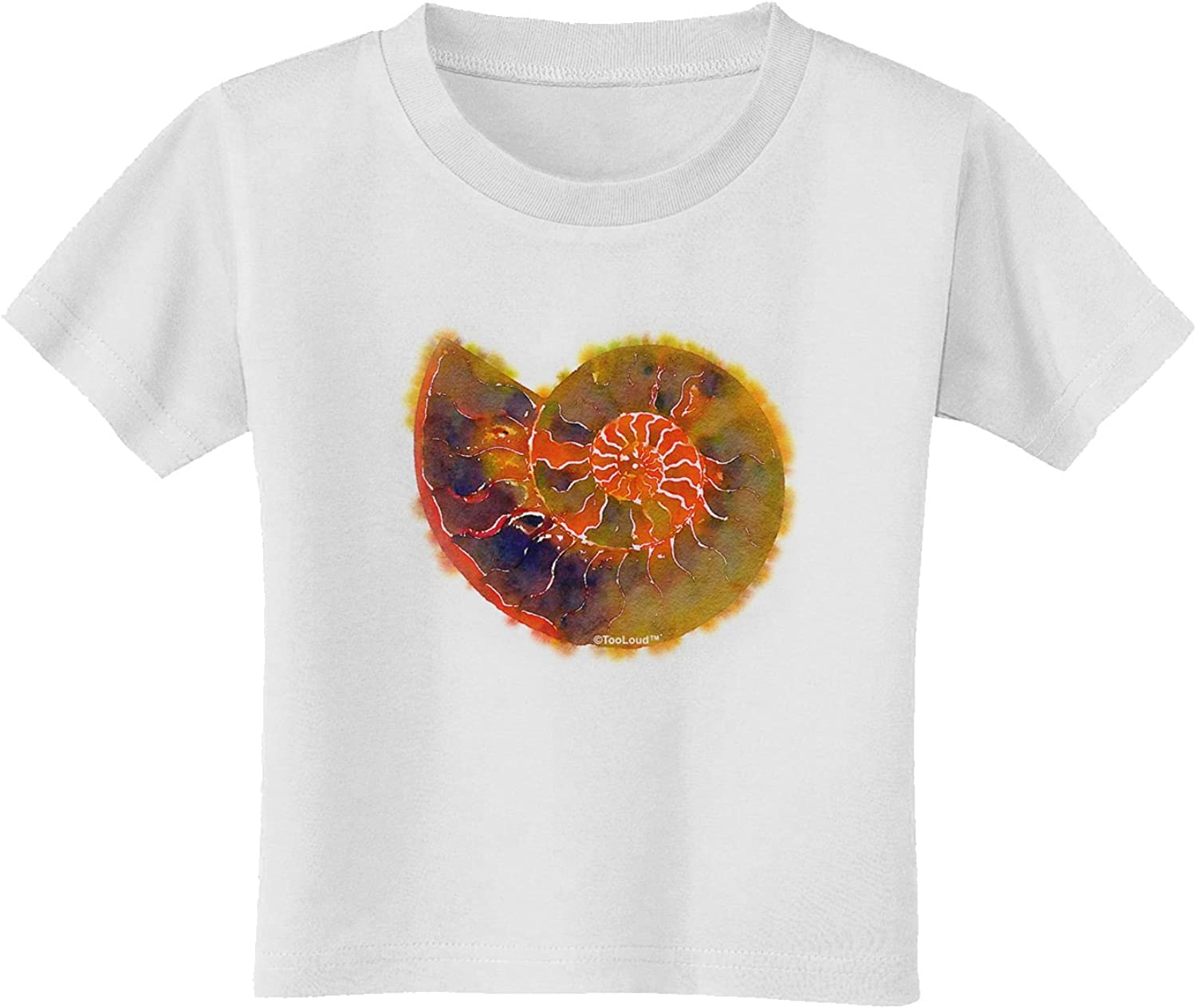 TooLoud Trilobite Fossil Watercolor Text Toddler T-Shirt