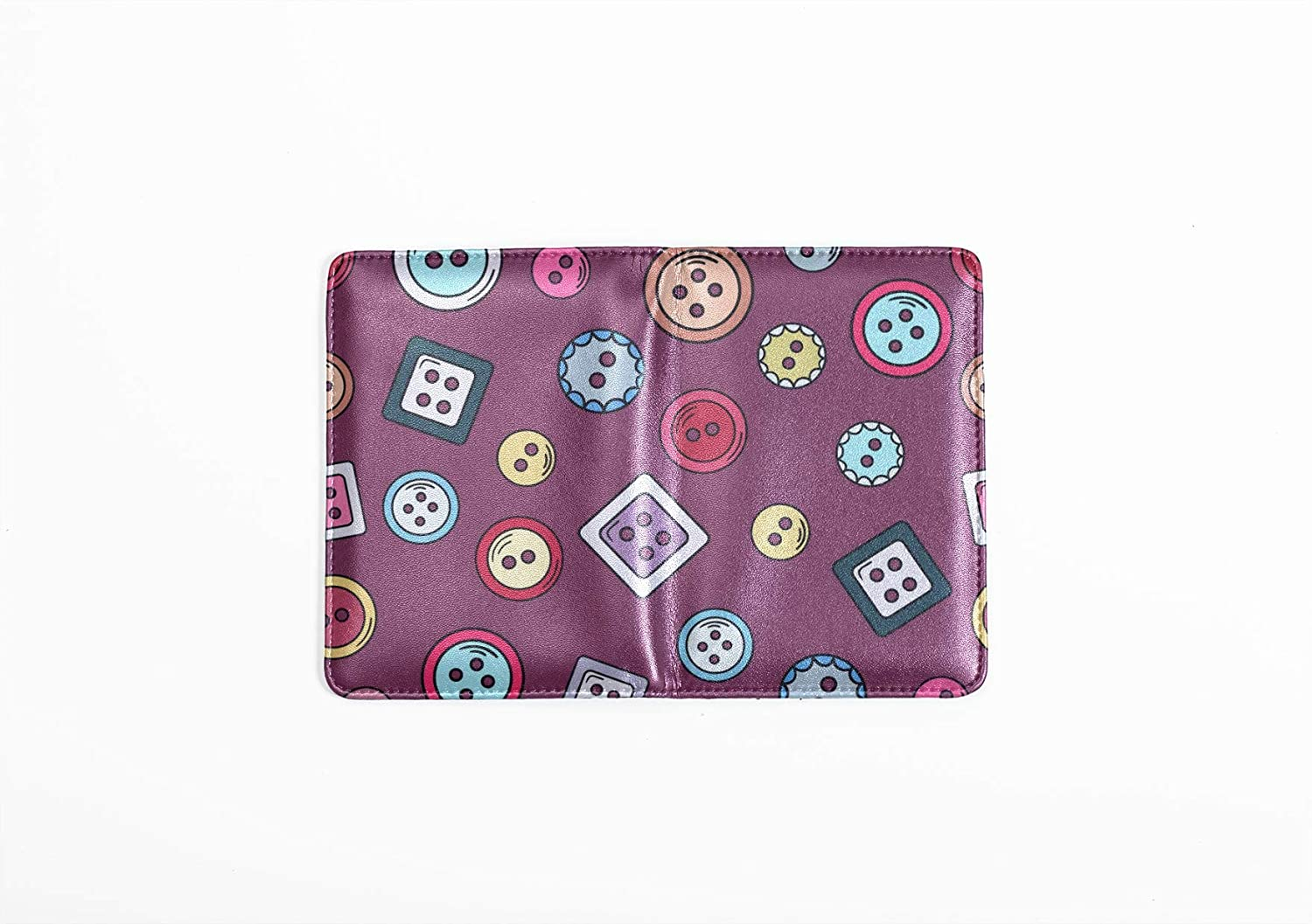 Unique Passport Cover Fashion Cute Colorful Creative Button Cover Passport Multi Purpose Print Us Passport Cover Plastic Travel Wallets For Unisex 5.51x4.37 Inch