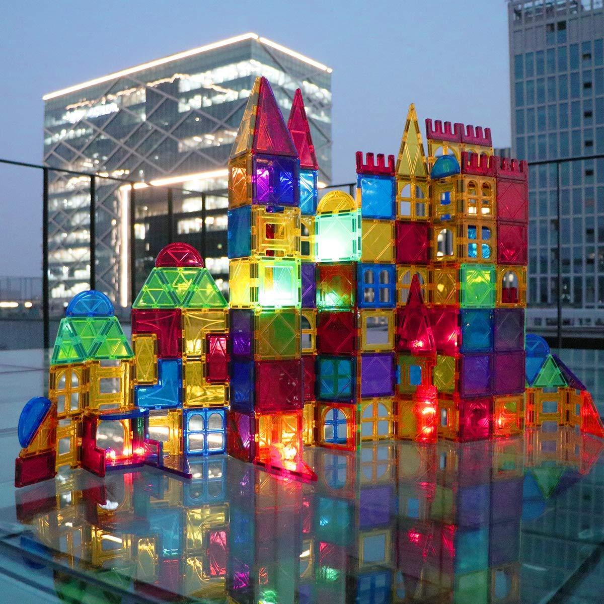 Magblock 115 PCS Magnetic Blocks, Magnetic Tiles Building Blocks for Kids Toy,Magnet Toys Set 3D Building Blocks for Toddler Boys and Girls by Magblock (Image #4)